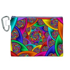 Color Spiral Canvas Cosmetic Bag (xl)