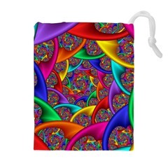 Color Spiral Drawstring Pouches (Extra Large)