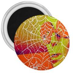 Orange Guy Spider Web 3  Magnets