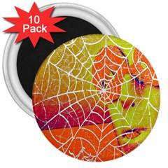 Orange Guy Spider Web 3  Magnets (10 Pack)
