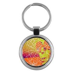 Orange Guy Spider Web Key Chains (Round)
