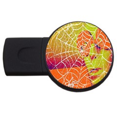 Orange Guy Spider Web Usb Flash Drive Round (2 Gb)