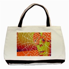 Orange Guy Spider Web Basic Tote Bag