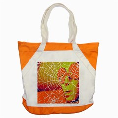 Orange Guy Spider Web Accent Tote Bag