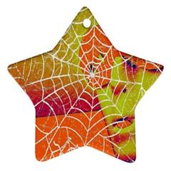 Orange Guy Spider Web Star Ornament (two Sides)