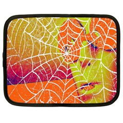 Orange Guy Spider Web Netbook Case (large)