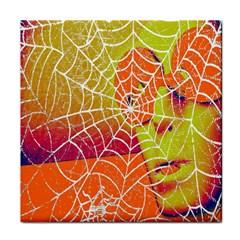 Orange Guy Spider Web Face Towel