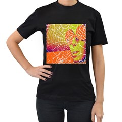 Orange Guy Spider Web Women s T-Shirt (Black)