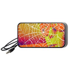 Orange Guy Spider Web Portable Speaker (black)