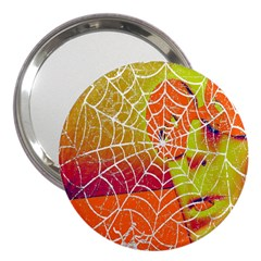 Orange Guy Spider Web 3  Handbag Mirrors