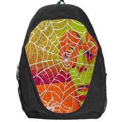Orange Guy Spider Web Backpack Bag