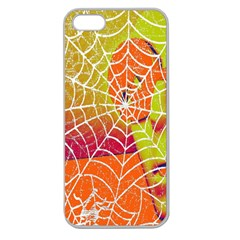 Orange Guy Spider Web Apple Seamless iPhone 5 Case (Clear)