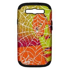 Orange Guy Spider Web Samsung Galaxy S III Hardshell Case (PC+Silicone)