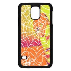 Orange Guy Spider Web Samsung Galaxy S5 Case (Black)