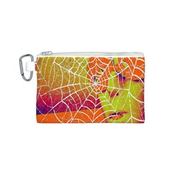 Orange Guy Spider Web Canvas Cosmetic Bag (S)