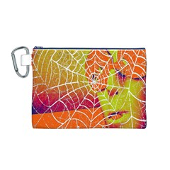 Orange Guy Spider Web Canvas Cosmetic Bag (m)