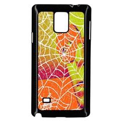 Orange Guy Spider Web Samsung Galaxy Note 4 Case (Black)