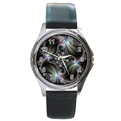 Beautiful Curves Round Metal Watch