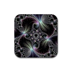 Beautiful Curves Rubber Coaster (Square)