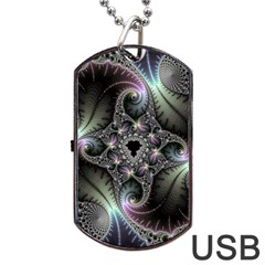 Beautiful Curves Dog Tag USB Flash (One Side)