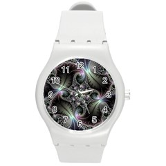 Beautiful Curves Round Plastic Sport Watch (M)