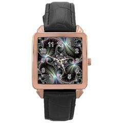 Beautiful Curves Rose Gold Leather Watch