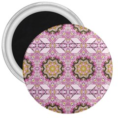 Floral Pattern Seamless Wallpaper 3  Magnets