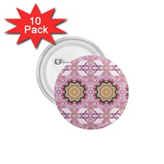 Floral Pattern Seamless Wallpaper 1 75  Buttons (10 Pack)