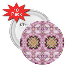Floral Pattern Seamless Wallpaper 2 25  Buttons (10 Pack)
