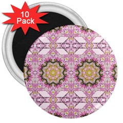 Floral Pattern Seamless Wallpaper 3  Magnets (10 pack)