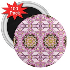 Floral Pattern Seamless Wallpaper 3  Magnets (100 Pack)