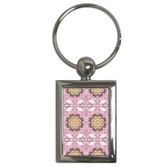 Floral Pattern Seamless Wallpaper Key Chains (Rectangle)