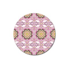 Floral Pattern Seamless Wallpaper Magnet 3  (round)