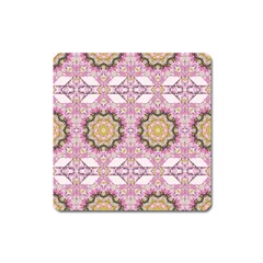 Floral Pattern Seamless Wallpaper Square Magnet