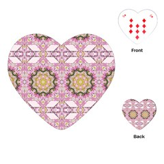 Floral Pattern Seamless Wallpaper Playing Cards (heart)