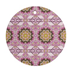 Floral Pattern Seamless Wallpaper Round Ornament (Two Sides)