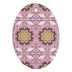 Floral Pattern Seamless Wallpaper Oval Ornament (two Sides)