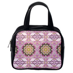Floral Pattern Seamless Wallpaper Classic Handbags (One Side)