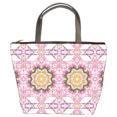 Floral Pattern Seamless Wallpaper Bucket Bags