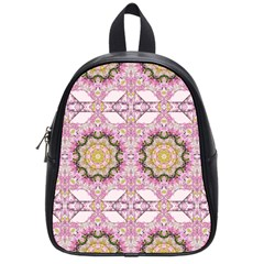 Floral Pattern Seamless Wallpaper School Bags (Small)