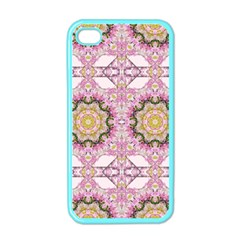 Floral Pattern Seamless Wallpaper Apple Iphone 4 Case (color)