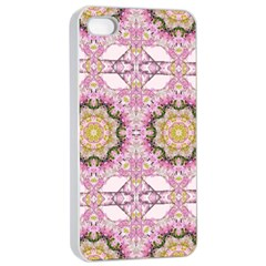 Floral Pattern Seamless Wallpaper Apple Iphone 4/4s Seamless Case (white)
