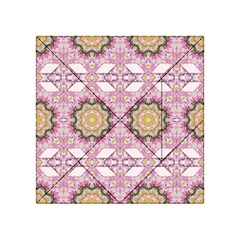 Floral Pattern Seamless Wallpaper Acrylic Tangram Puzzle (4  x 4 )