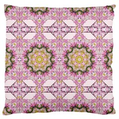 Floral Pattern Seamless Wallpaper Large Cushion Case (Two Sides)