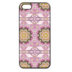 Floral Pattern Seamless Wallpaper Apple iPhone 5 Seamless Case (Black)