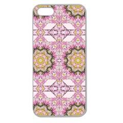 Floral Pattern Seamless Wallpaper Apple Seamless iPhone 5 Case (Clear)