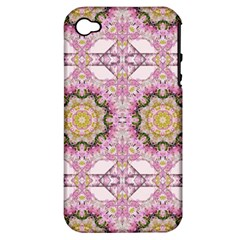 Floral Pattern Seamless Wallpaper Apple Iphone 4/4s Hardshell Case (pc+silicone)