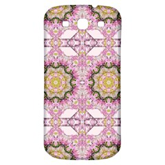 Floral Pattern Seamless Wallpaper Samsung Galaxy S3 S III Classic Hardshell Back Case