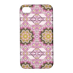 Floral Pattern Seamless Wallpaper Apple iPhone 4/4S Hardshell Case with Stand