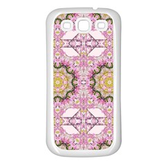 Floral Pattern Seamless Wallpaper Samsung Galaxy S3 Back Case (White)